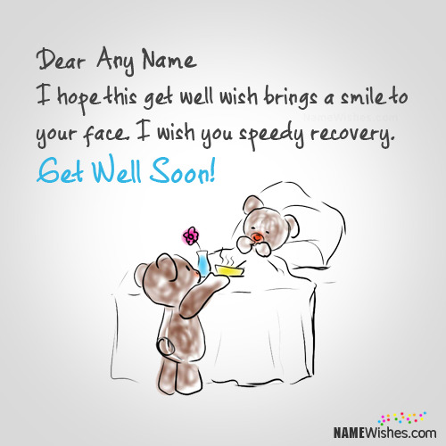 Fantastic Get Well Soon Images With Name