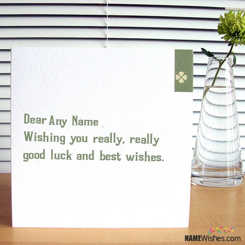 Good Luck Quote Card With Names