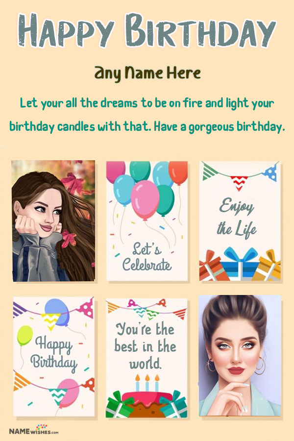 Happy Birthday Collage Birthday Wish Free edit Online Frame