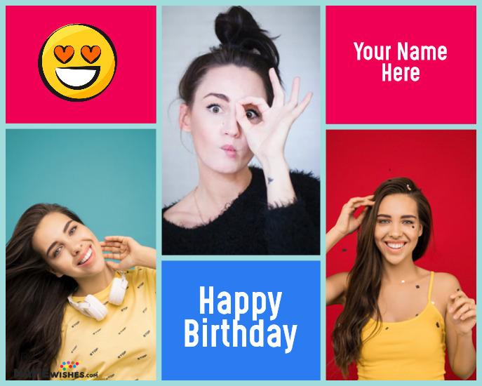 Happy Birthday Collage Online Personalized Birthday Gift