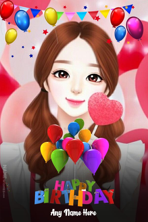 Happy Birthday Photo Frame Wish With Name Editor