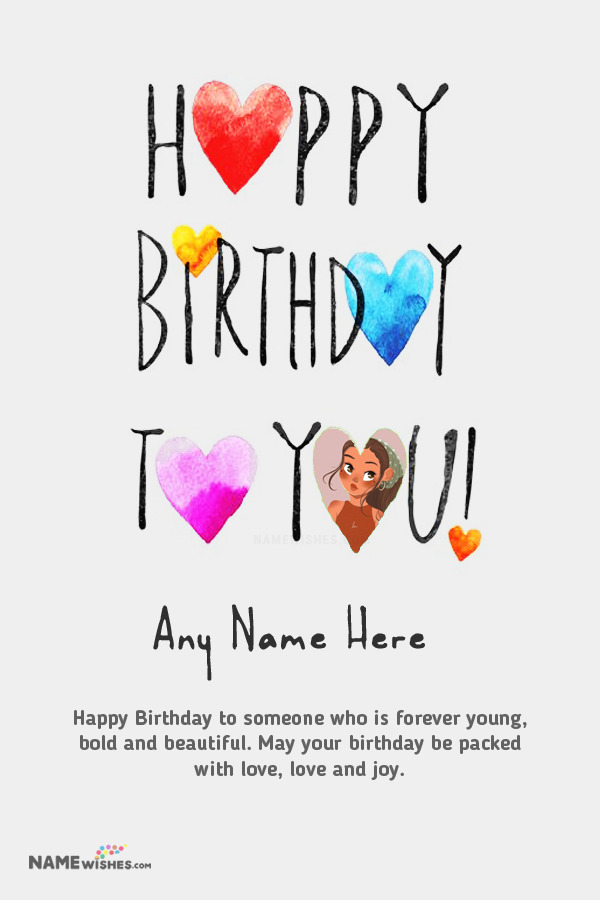 Happy Birthday To You Wish With Photo Frame and Name