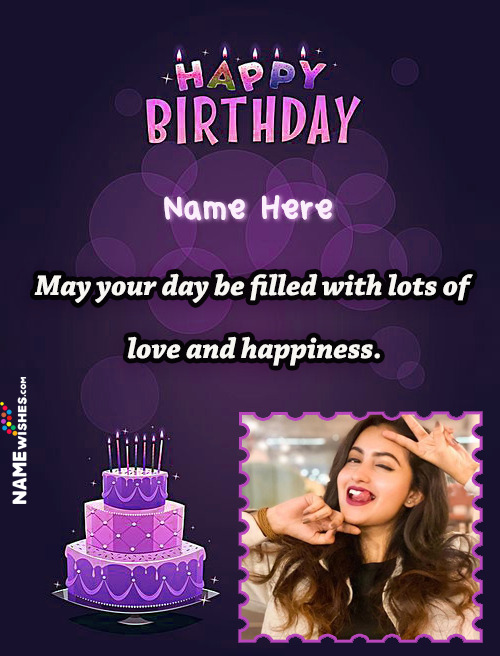 Happy Birthday Wish With Name and Photo For Friends or Wife