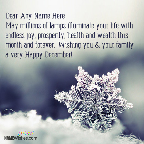 Happy December Wishes With Name
