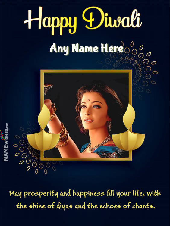 Happy Diwali Wishes With Photo Frame and Name Edit Online Free
