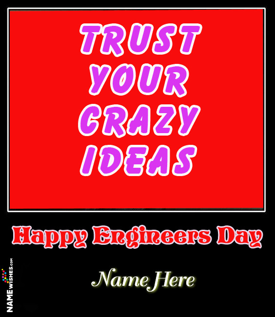Happy Engineers Day Wishes With Name and Photo For FRiends