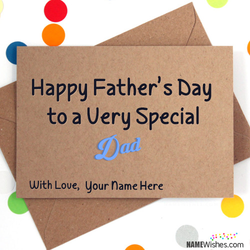 Happy Fathers Day Card With Name