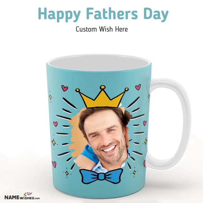 Happy Fathers Day Mug With Photo
