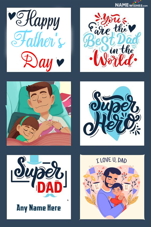 Happy Father's Day Wishes From Daughter Collage Photo Frame
