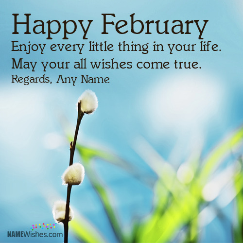 Happy February Wishes With Name