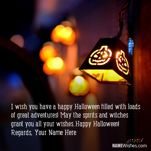 Happy Halloween Wishes With Name