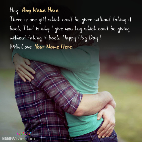 Happy Hug Day Wishes With Names