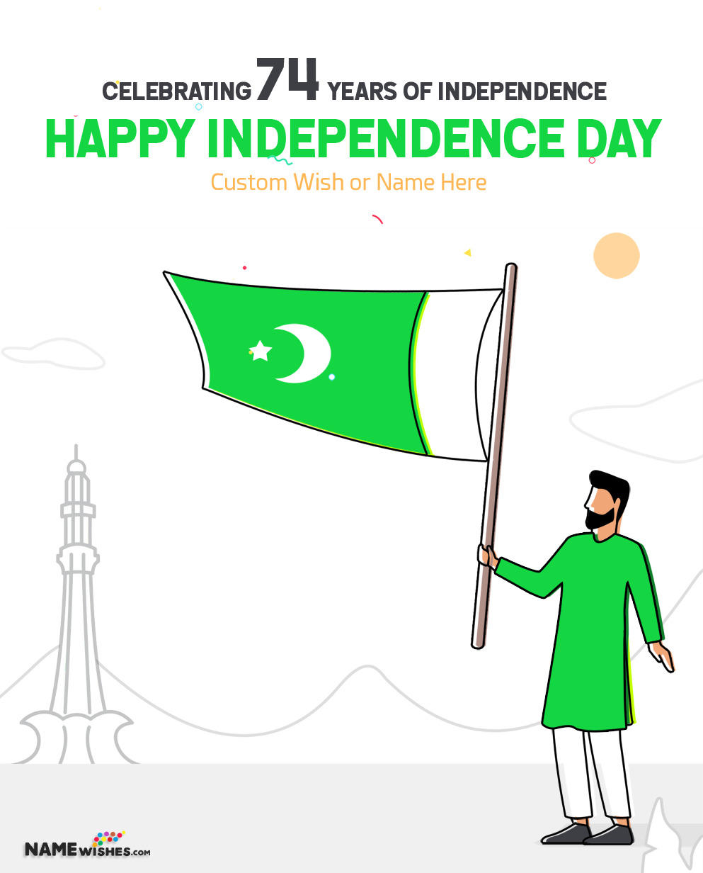 Happy Pakistan Independence Day 2020 Wish with Name
