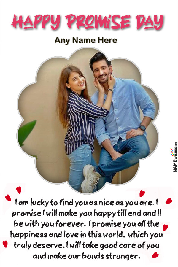 Happy Promise Day Wish With Name and Photo Edit Online Free