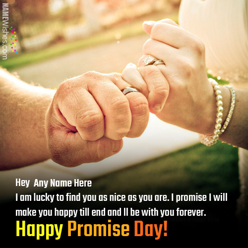 Happy Promise Day Wishes With Names