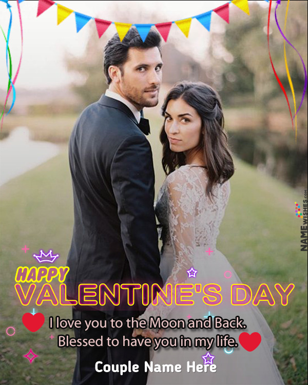 Happy Valentines day Love Photo Frame For Lovers Free Online
