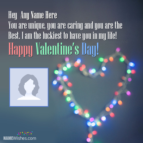 Valentines Day Wishes With Couple Names