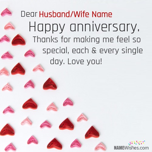 Happy Wedding Anniversary Wishes With Name