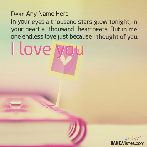 I love You More Images With Name