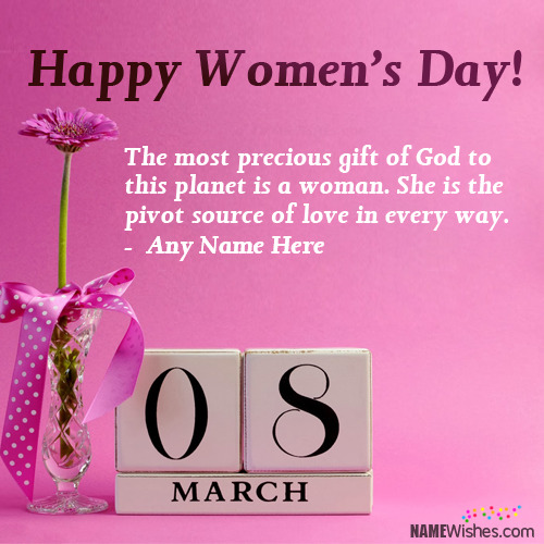 New International Women's Day Wishes With Name