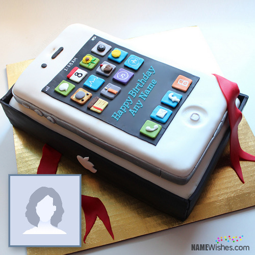 iPhone Shaped Birthday Cake With Name