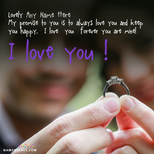 Love Promise Images With Name