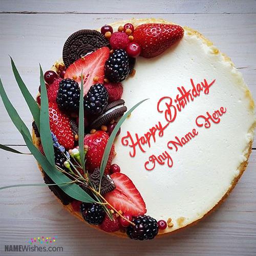 Lovely Orio Mix Birthday Cake With Name