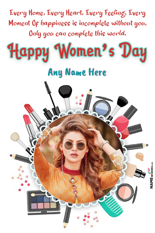 Makeup Lovers Happy Women's Day Wish With Name and Pic