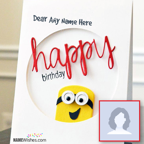 Minion Birthday Wish Card With Name