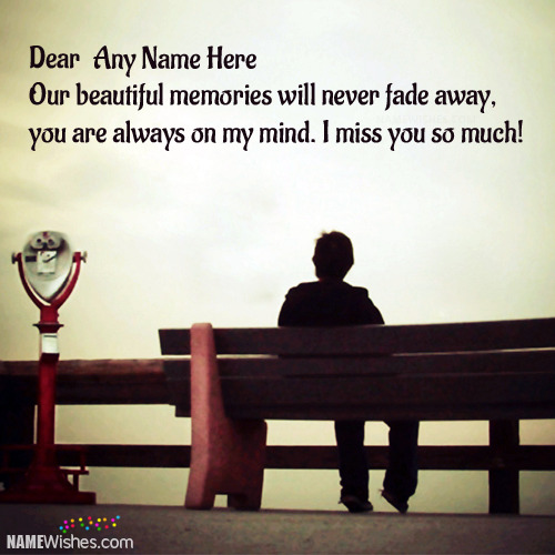 Miss You Image For Boys With Names