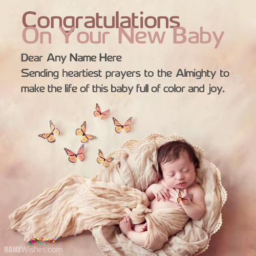 New Born Baby Congratulations Wishes With Name