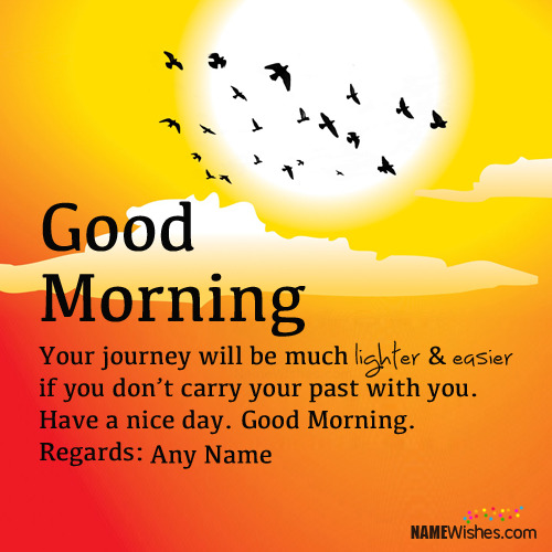 New Way To Wish Good Morning With Name