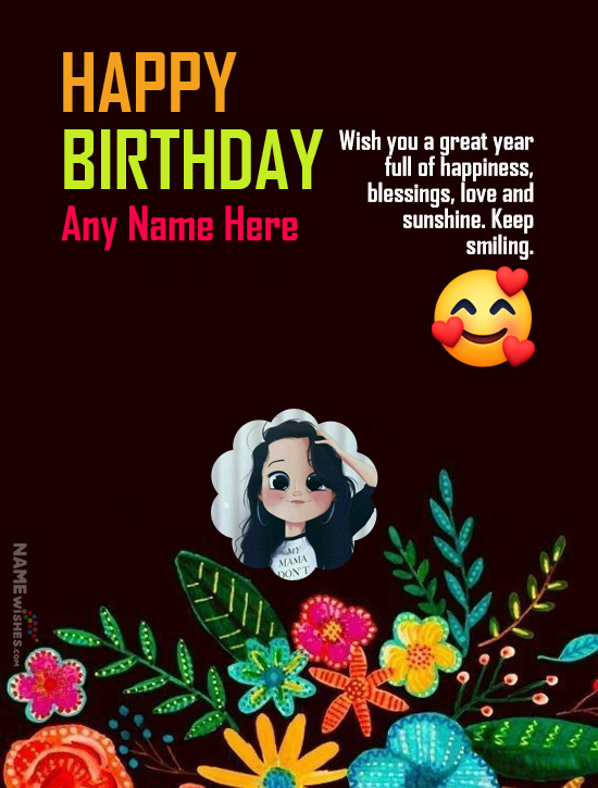 New Year Birthday Wish With Name and Photo