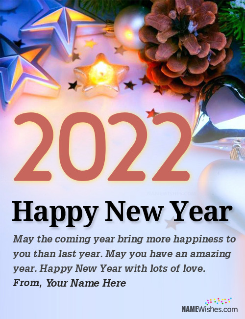New Year Wishes With Name Editing