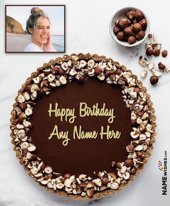 Peanuts Chocolate Birthday Cake With Name and Photo For Friends