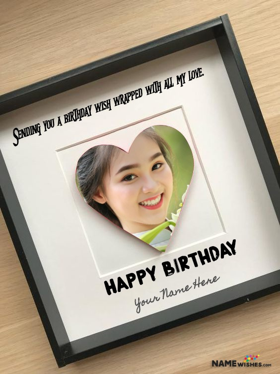 Personalized Birthday Frame with Photo and Name