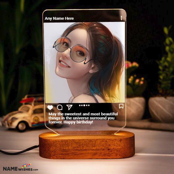 Personalized Birthday Gift - Instagram LED Frame