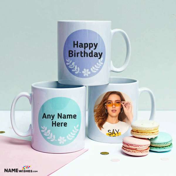 Personalized Mugs Birthday Gift With Name and Photo