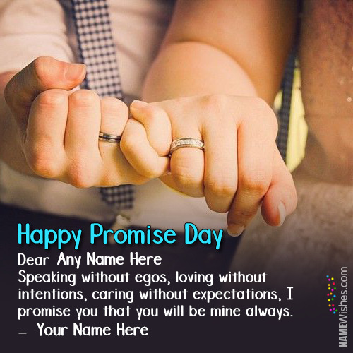 Promise Day Wishes With Couple Names