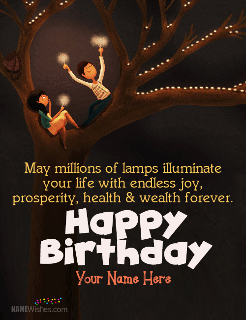 Romantic Birthday Wish Image For Lover With Name