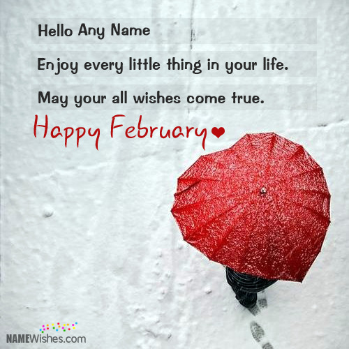 Romantic Happy February Wishes With Name