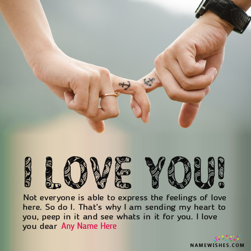 Romantic I Love You Images With Name