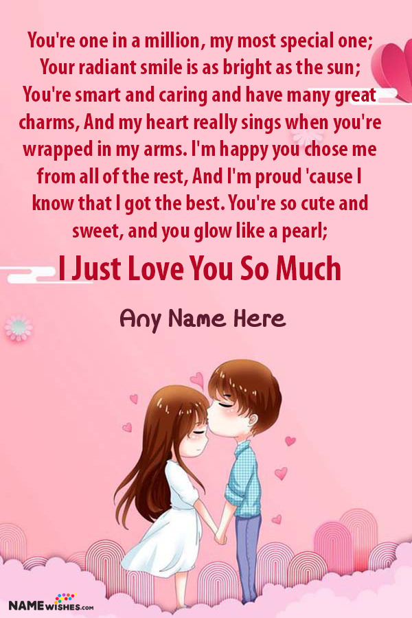 Romantic Love Poetry For Someone Special With Name Edit Online Wish