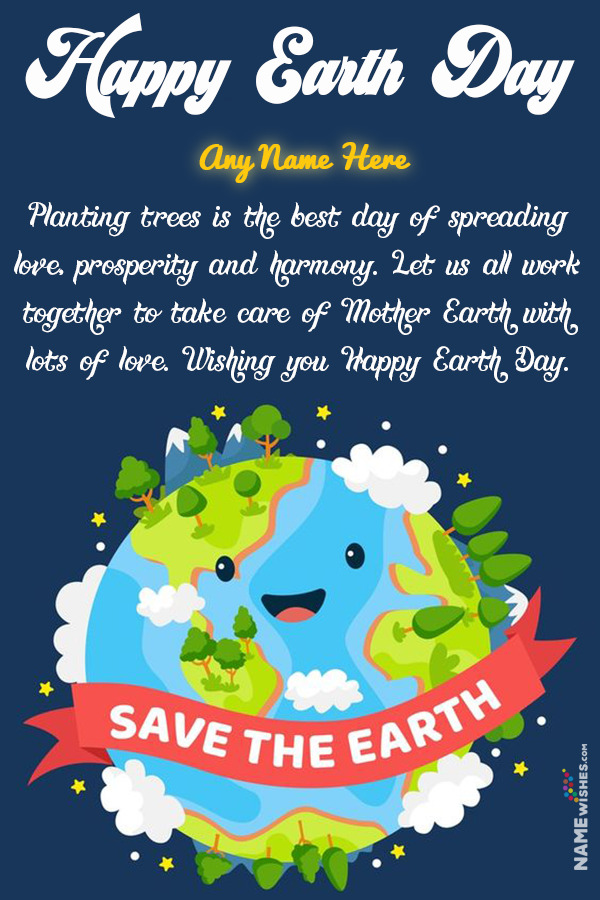 Save The Earth Digital Art Illustration With Name For WhatsApp Status