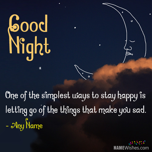 Sweet Good Night Wishes With Name Editing