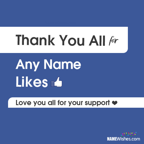 Thank You For FB Likes