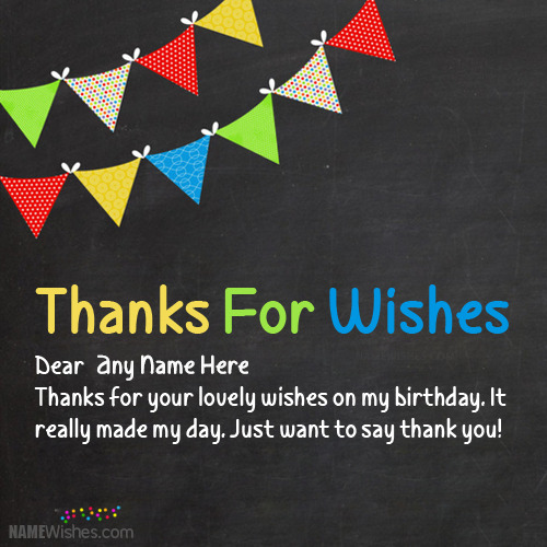 Thanks For The Wishes With Name