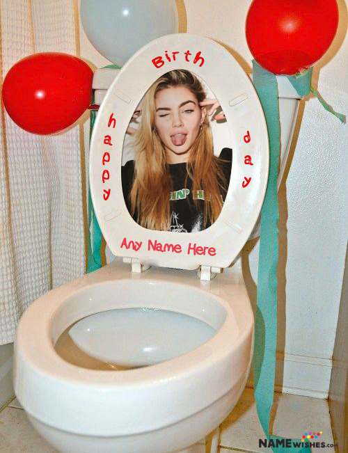 Toilet Fun Birthday Surprise For Friends With Name