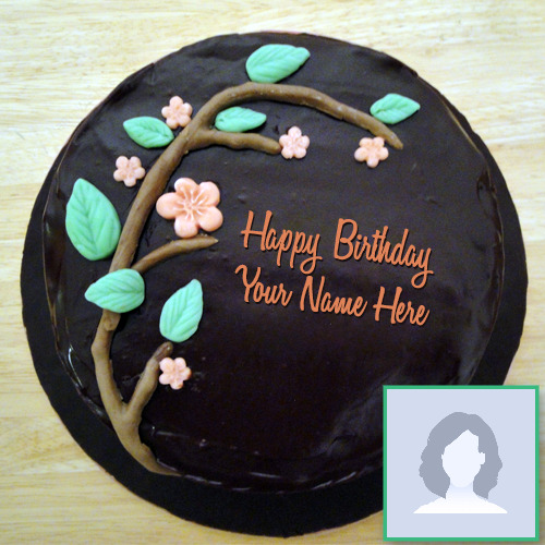 Tree Chocolate Birthday Cake With Name