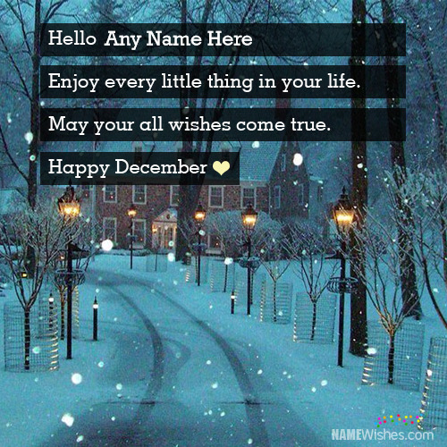 Unique Happy December Wishes With Name